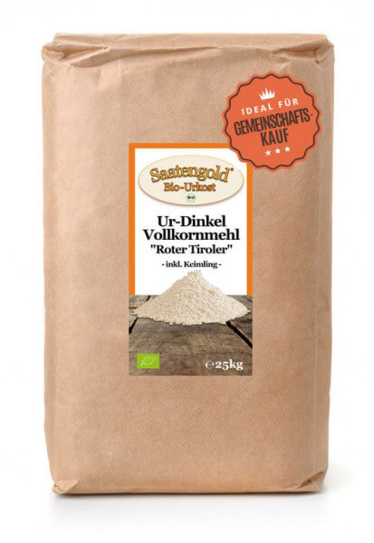 Ur-Dinkel-Vollkornmehl (Bio) 25kg Sack