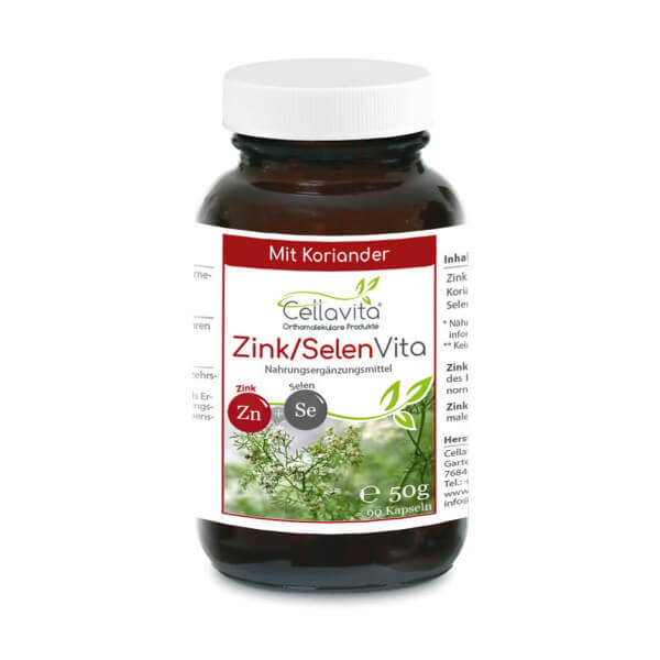 Zink-Selen & Koriander Vita 90 Kapseln im Glas