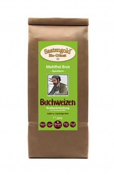 Mehlfreibrot Buchweizen -Ganzkorn- Bio Brotbackmischung 550g