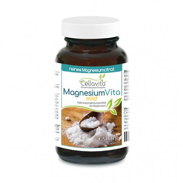 Magnesiumcitrat Vita 'mild' | 180 Kapseln im Glas