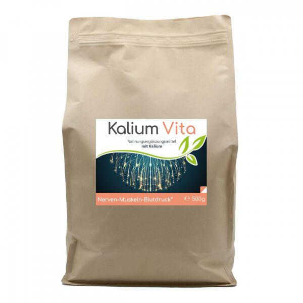 Kalium Vita (Nerven-Muskeln-Blutdruck) 500g Pulver Vorratsbeutel