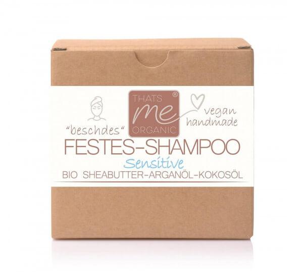 """Veganes festes Shampoo """"sensitive"""" empfindliche, gereizte Kopfhaut 40g Handmade"""