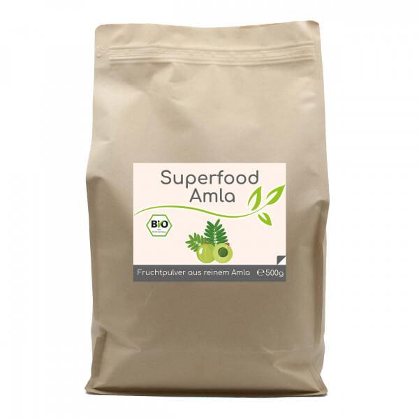 Superfood Amla bio Pulver 500g im Vorratsbeutel